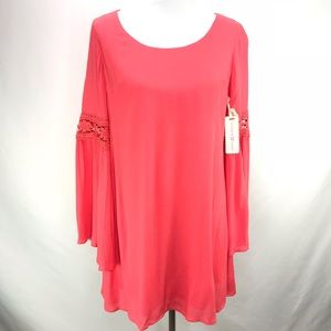 Altar'd State Coral Grapefruit Tunic Dress Small